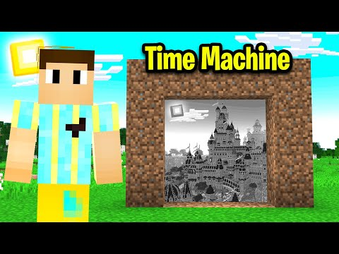 I Made A MINECRAFT TIME MACHINE To Visit The PAST!