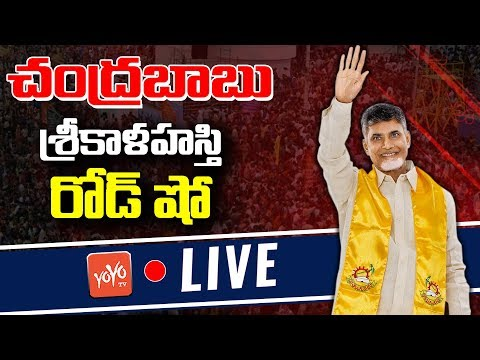 Chandrababu Naidu Road Show LIVE | Palamaner - Chittoor | TDP Election Campaign | YOYO TV