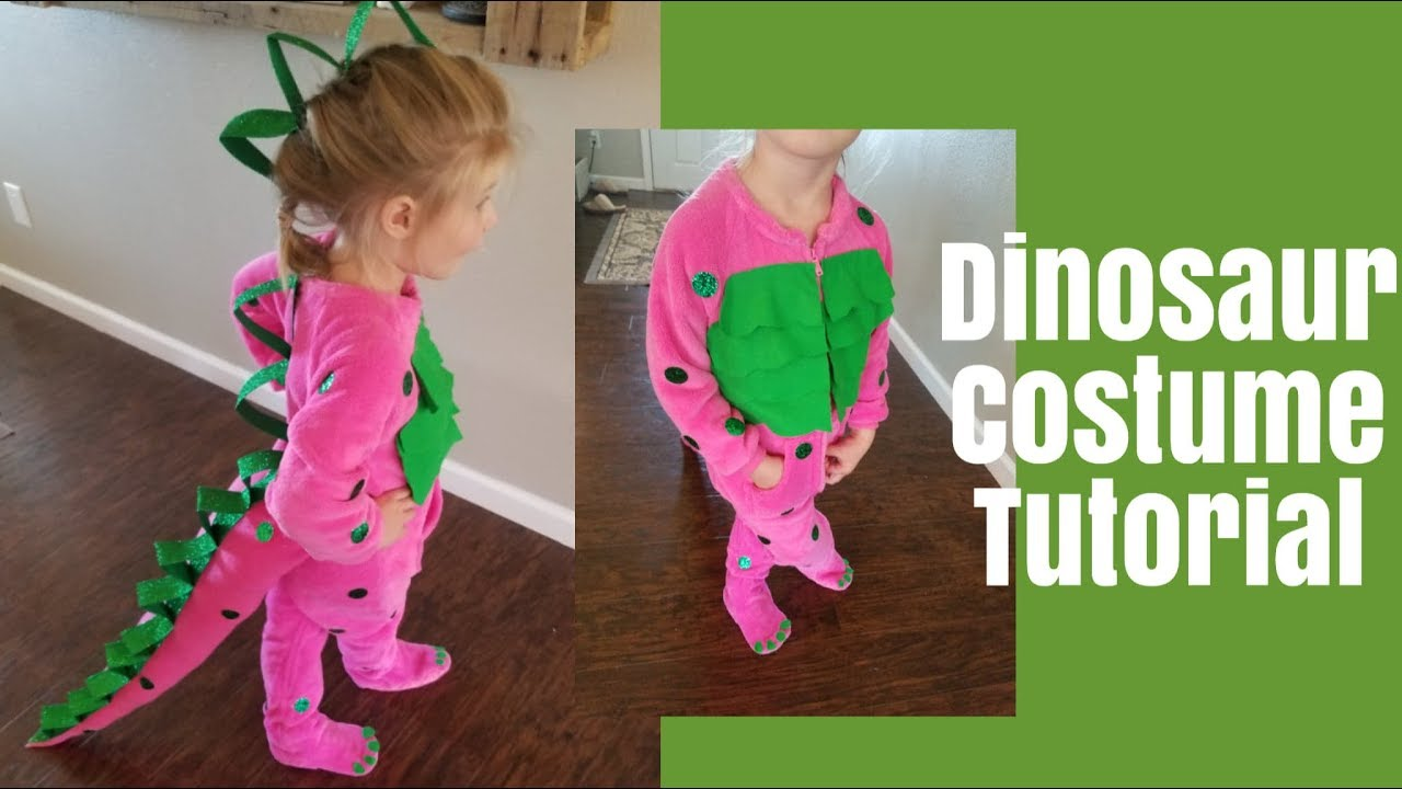 Dinosaur Halloween Costume Diy Dinosaur Costume Youtube
