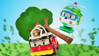 Видео про машинки из мультфильмов Робокар Поли. Робокары на тренировке. Почему Рой ее пропустил?