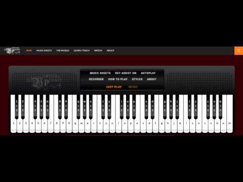 How to use Virtual Piano | Love Story Music  | Autoplay