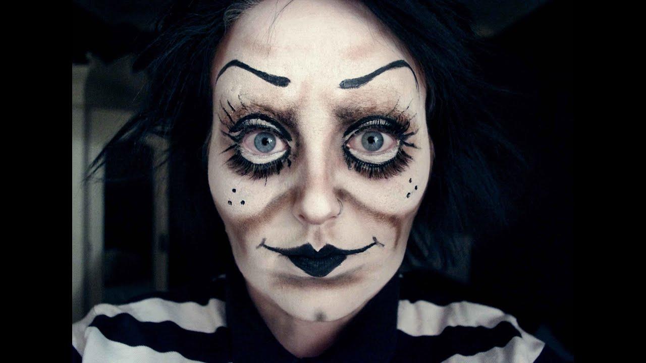Creepy Cartoon/Doll Make-Up - YouTube