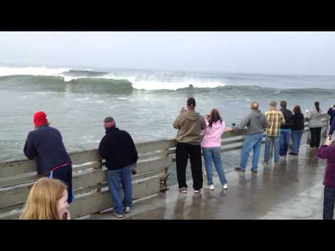 Big Waves, High Tide, Ocean Beach Pier, San Diego, Jan 7, 2012