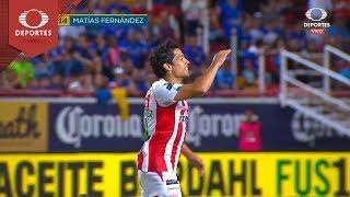 Gol de Matías Fernández | Necaxa 1 - 0 Cruz Azul | Apertura 2018 - Jornada 9 | Televisa Deportes