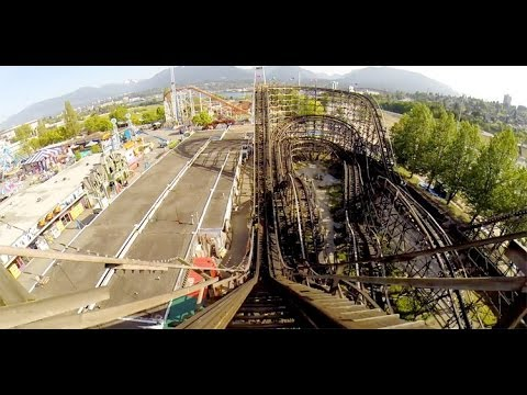 PNE Playland Wooden Roller Coaster POV CRAZY Airtime Classic Woodie Vancouver Canada