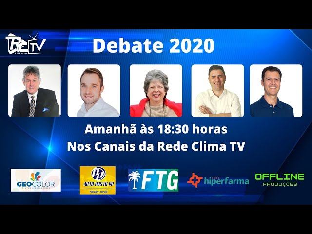 DEBATE PREFEITURÁVEIS  2020 | REDE CLIMA TV