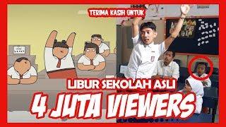 Download Video Kartun Lucu - Lagu Libur Sekolah!!! ( parodi animasi nopal real ) MP3 3GP MP4