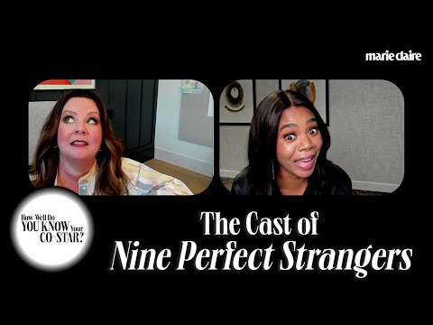 The Cast of 'Nine Perfect Strangers' Play 'How Well Do You Know Your Co-Star?' | Marie Claire