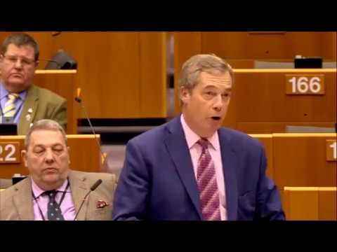 """Nigel Farage; """"Christmas has come early"""" for the EU Brexit Britain €50 billion divorce bill"""