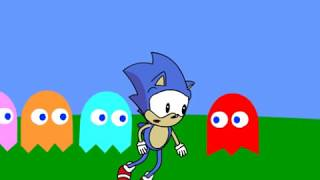 Sonic in Pac-man World