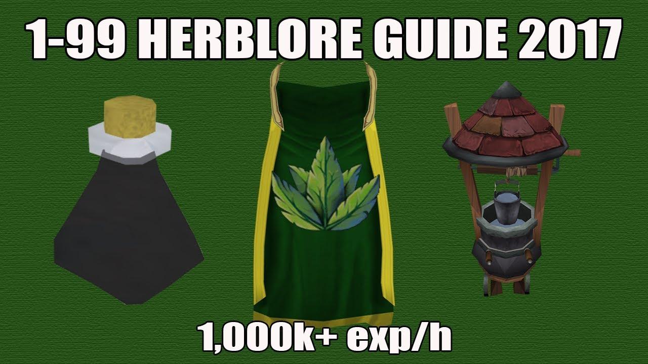 Runescape 3 1 99 Herblore Guide 2017