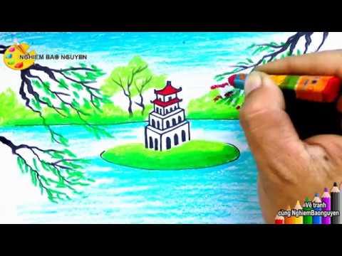 Vẽ tranh Hồ Gươm