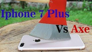 Iphone 7 Plus vs Axe || Extreme Crash Test