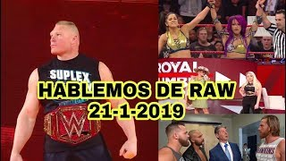 Monday Night Raw 21-1-19 (Análisis)