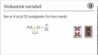 Sandsynlighedsregning 5 - Stokastisk variabel