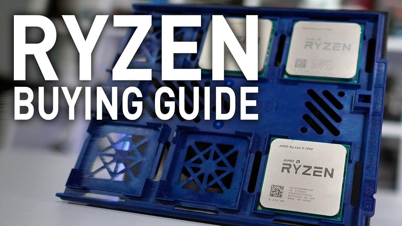 AMD Ryzen 7 1700 vs Ryzen 5 1600 vs Ryzen 5 1400 CPU