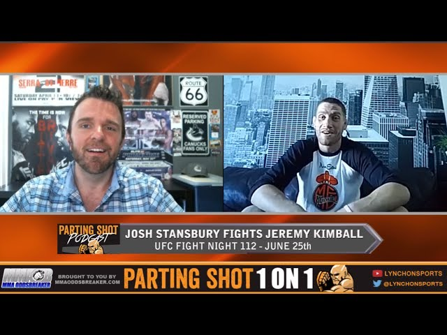 "UFC Fight Night 112's Josh Stansbury ""I'm catching Jeremy Kimball with a 2nd-Round knockout"""