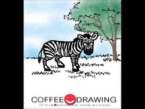 how to draw zebra] สอนเด็กวาดรูปการ์ตูน ม้าลาย ตามขั้นตอนง่ายๆ [by coffee-drawing]