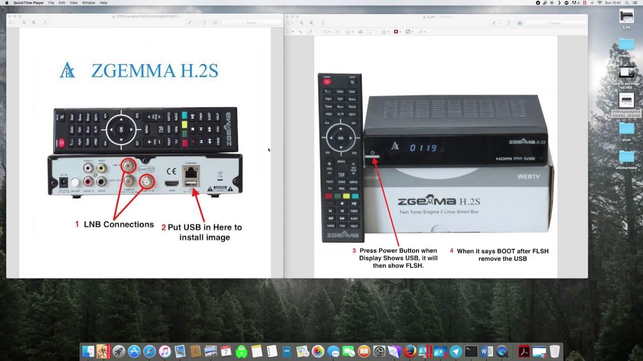 How to install custom image on Zgemma H 2S/H 2H