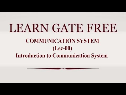 Lec 00 Introduction To Communication System