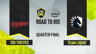 CS:GO - 100 Thieves vs. Team Liquid [Mirage] Map 1 - ESL One: Road to Rio - Quarter-final - NA