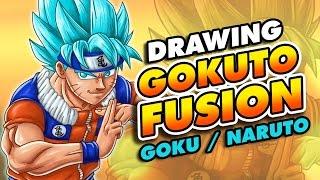 Goku Naruto FUSION Speed drawing | GOKUTO