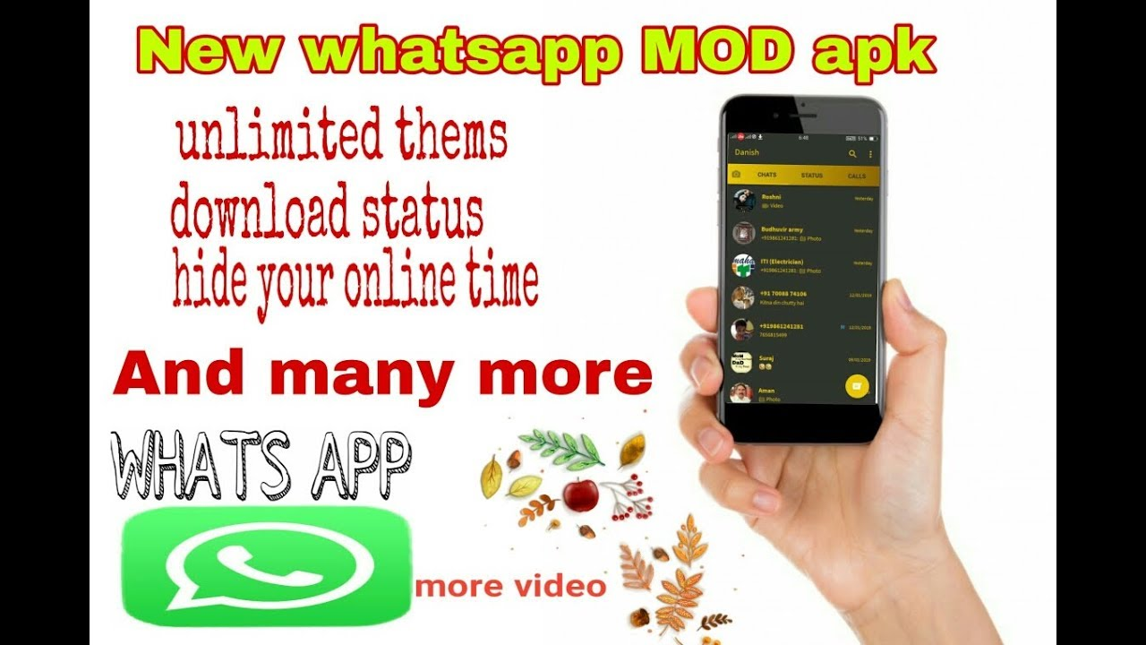 whatsapp mod apk hide online status