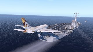 Huge Planes VS Aircraft Carrier
