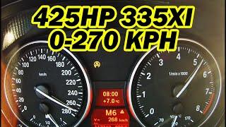 ★ 425HP BMW 335xi 0-270 km/h