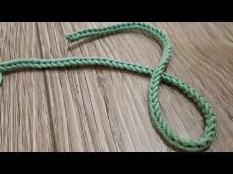 Как связать завязки на пинетки крючком