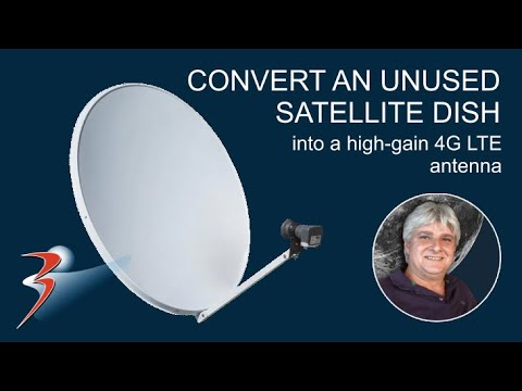 Convert An Unused Satellite Dish Into A High-gain 4G LTE Antenna