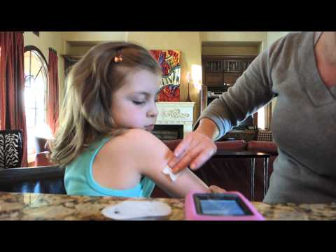 Ava doing an Omnipod site change