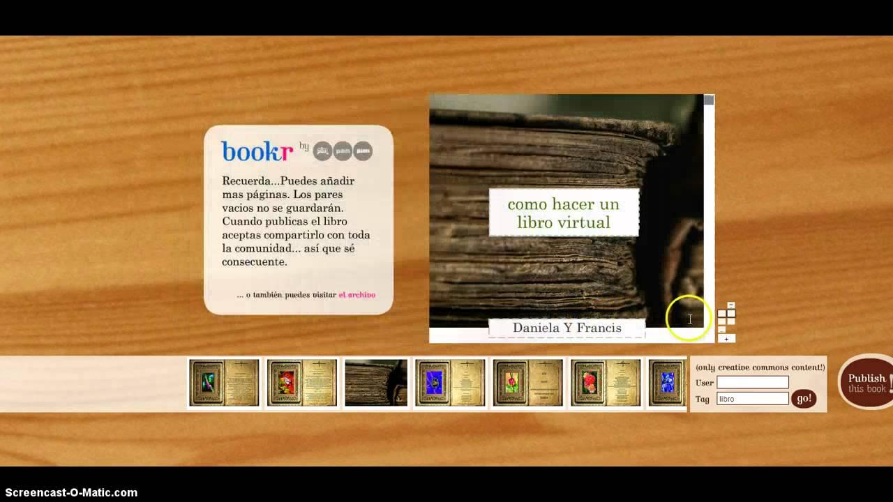 como hacer un libro virtual - YouTube