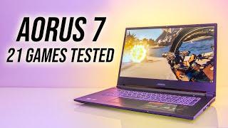 Aorus 7 SA Gaming Laptop Benchmarks - 21 Games Tested!