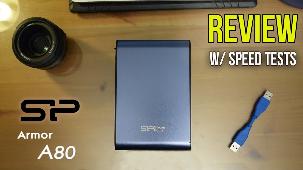 Silicon Power Armor A80 Portable Hard Drive Review Youtube