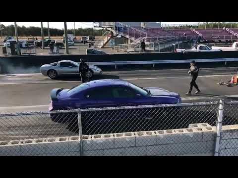 Dodge charger srt vs nitrous corvette