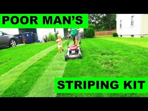 The Poor Man's (FREE) Lawn Striping Kit