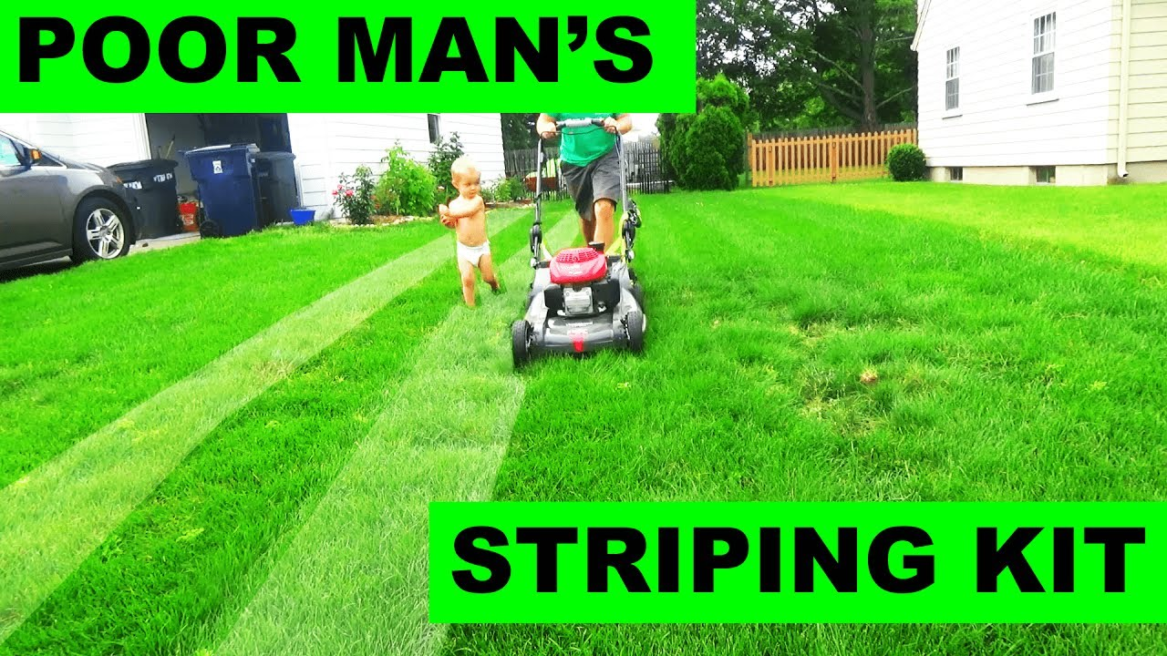 the poor mans free lawn striping kit