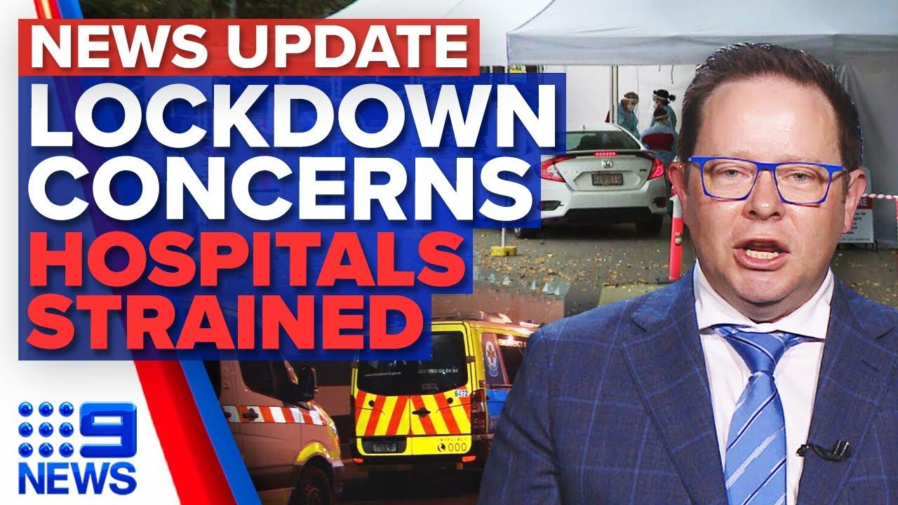 Download Brisbane on lockdown alert, Victorian health system under strain | 9 News Australia