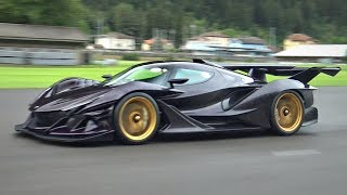 Apollo IE Unleashes its 780HP V12 on an Empty Runway! - INCREDIBLE SOUNDS!