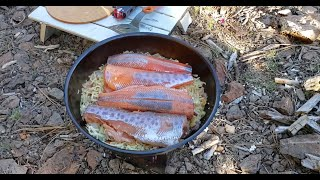Fly & Spincast Fishing, Exploring Three New Lakes! Firebox Camping Stove Cooking! Dry Baking A Cake!