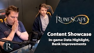 RuneScape Content Showcase (May 2019) - In-game Data Highlight, Bank Improvements