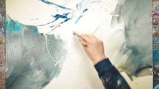 Abstract Painting Demo - Stay home and paint with me | Suprema