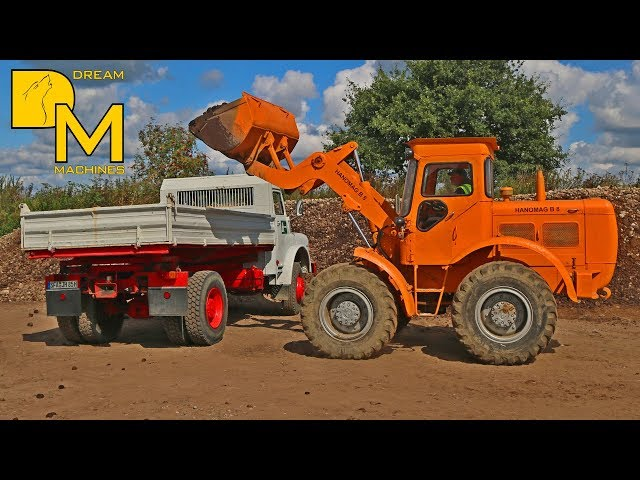 MAGIRUS + HANOMAG + POCLAIN + SCANIA VABIS # OLDTIMER IN ACTION I EARTHMOVERS WORKING IN QUARRY