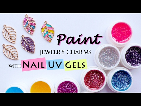 Make UV Resin Charms with Nail UV Gels / Paint Jewelry Charms with UV Nail Polish