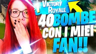 40 BOMBE CON I FAN IN SQUAD SPLIT! *DEVASTANTE* | Fortnite
