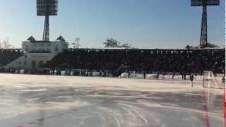 Vågen under finalen i Dam-VM 2012 i Irkutsk: Ryssland-Sverige