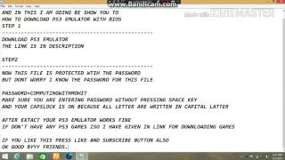 How to download PS3 emulator with bios.!!100%working!! With proof