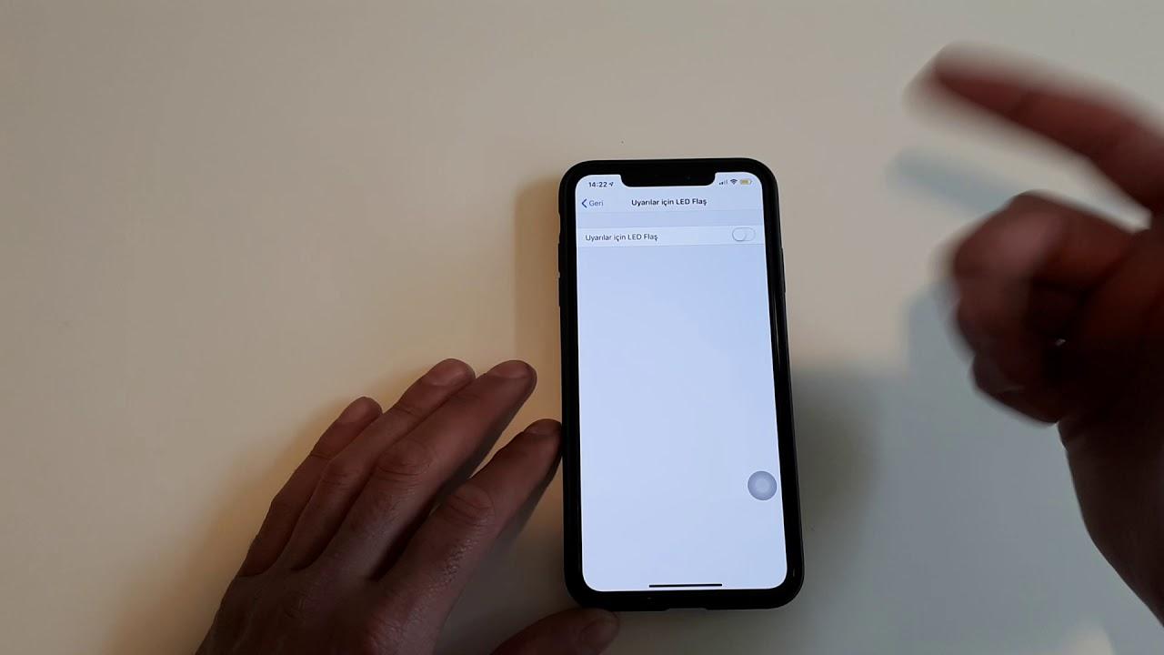 Iphone gelen aramalari isikli( flash) uyari