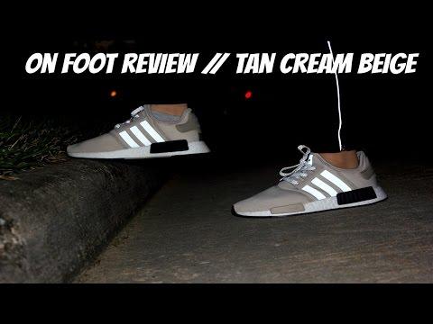 36994a660 Unboxing Restock Adidas Originals NMD R1 Cream Tan Beige + On Feet ...